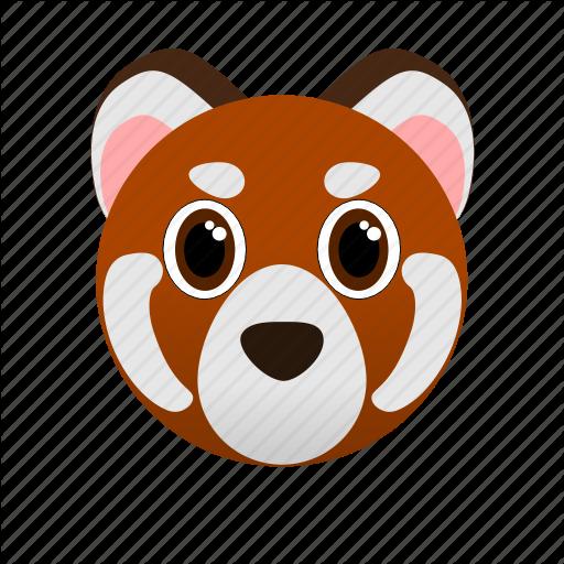 Animal, Face, Red Panda, Wild, Zoo Icon