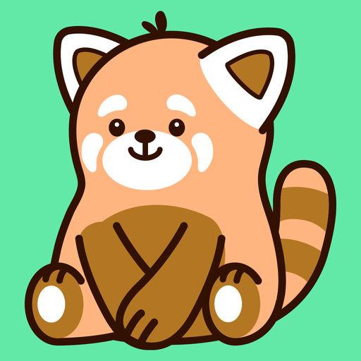 Cute Red Panda Stickers
