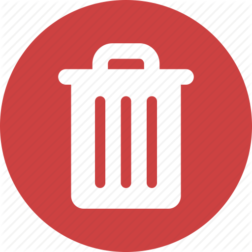Circle, Delete, Garbage, Recycle, Red, Rubbish, Trash Icon