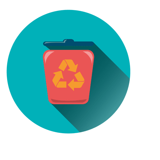 Recycle Bin Round Icon