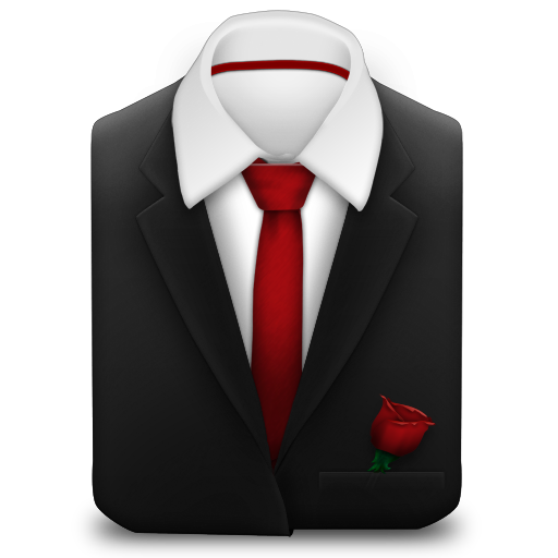 Red, Rose, Tie Icon