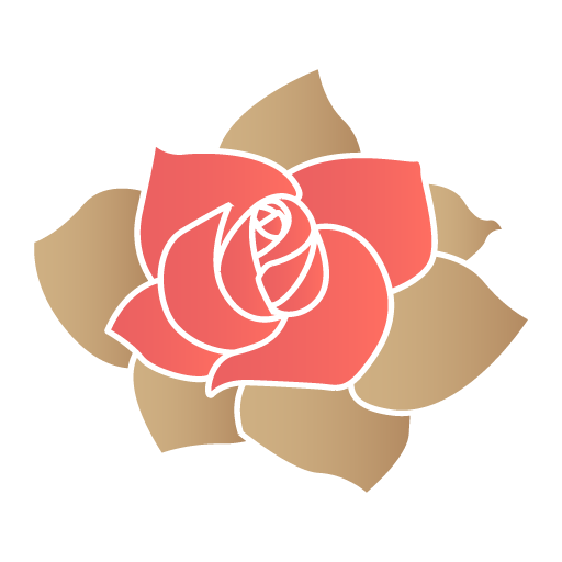 Red Rose Flower Icon
