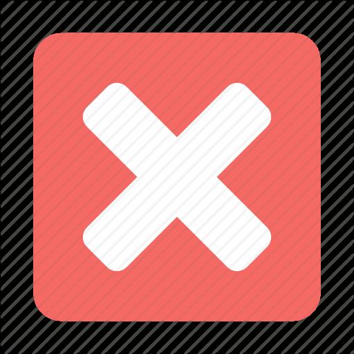 Cancel, Close, Delete, Exit, Remove, X Icon