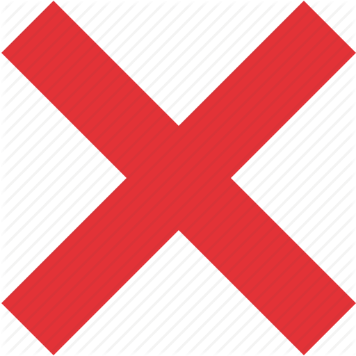 Cancel, Cross, Delete, Exit, No, Remove, Wrong Icon