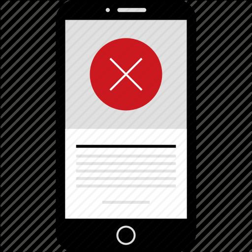 Cross, Delete, Denied, Phone, Stop, Wireframes, X Icon
