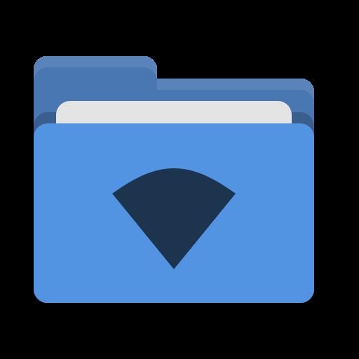 Folder, Blue, Wifi Icon Free Of Papirus Places