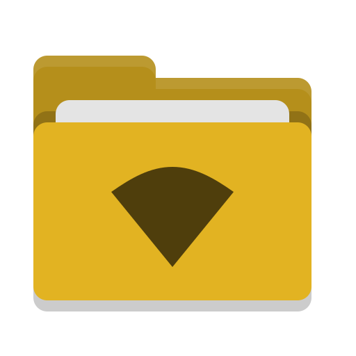 Folder, Yellow, Wifi Icon Free Of Papirus Places