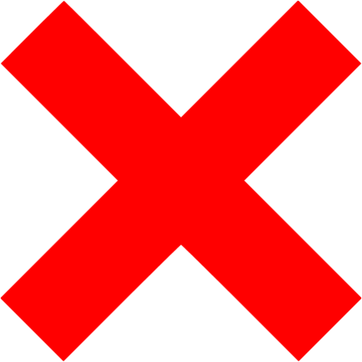 Red X Mark Icon