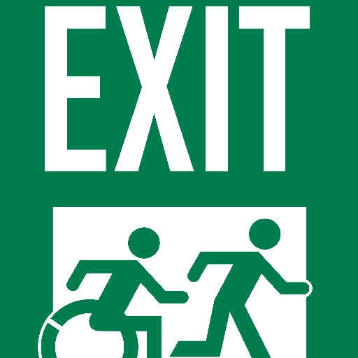 Accessible Exit Sign On Twitter New Accessible Means Of Egress