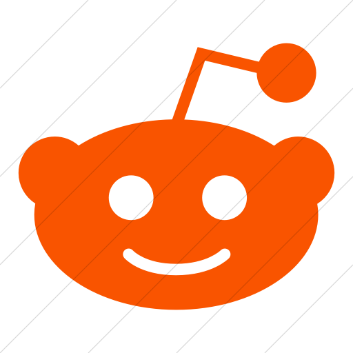 Simple Orange Foundation Social Reddit Icon