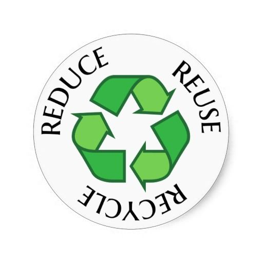 Green Recycling Symbol, Reduce Reuse Recycle Classic Round Sticker