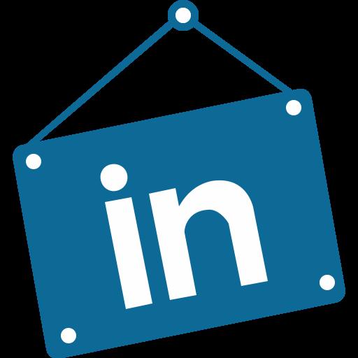 Social Media Linkedin Teal Icon