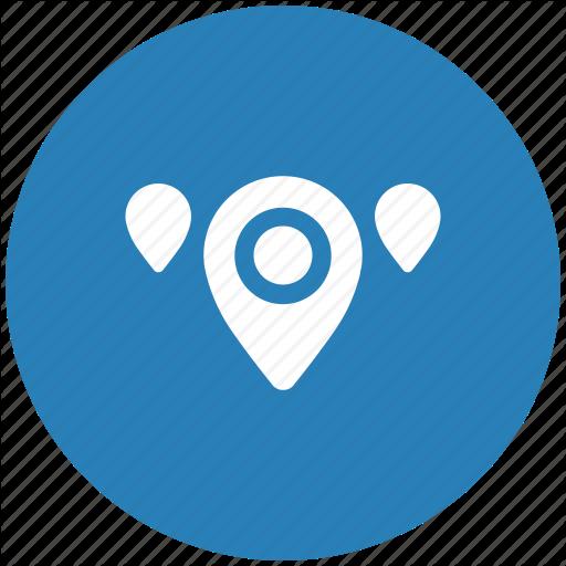 Blue, Geo, Map, Pointer, Region, Round Icon