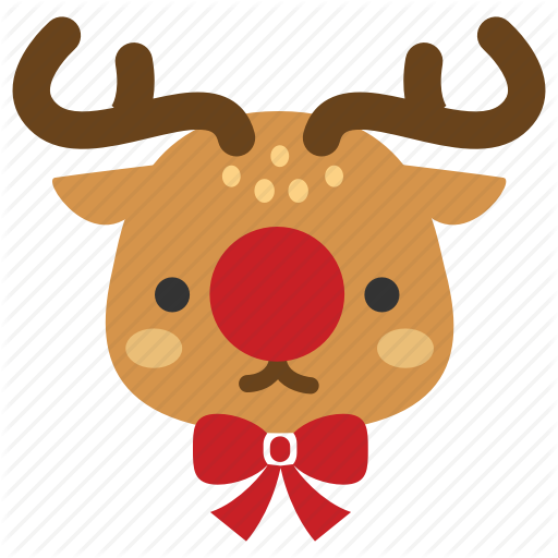 Christmas, Deer, Red Nose, Reindeer, Rudolf, Rudolph, Xmas Icon