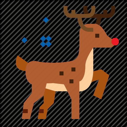 Christmas, Reindeer, Rudolph, Xmas Icon