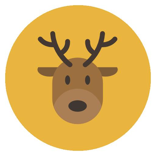 Reindeer Icon Flat Christmas Circle Iconset Fps