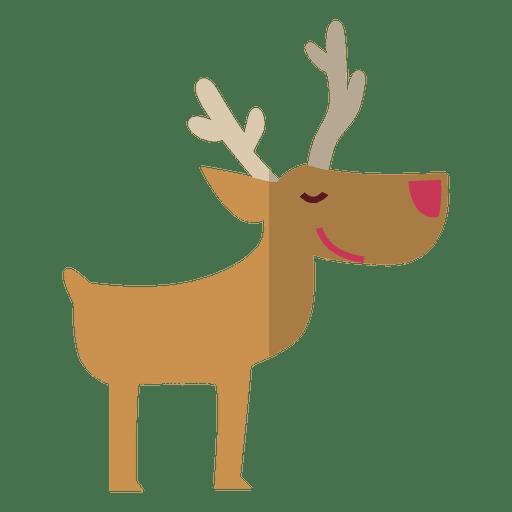 Reindeer Standing Flat Icon