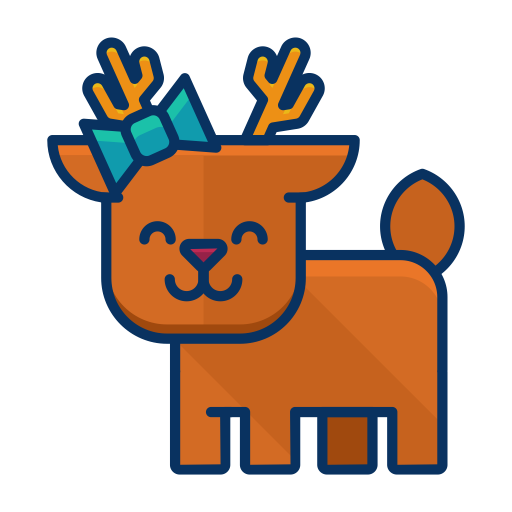 Happy, Animal, Forest, Deer, Reindeer Icon