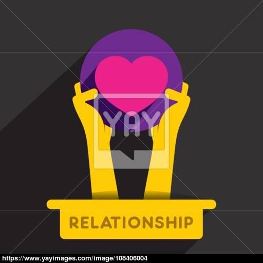 Creative Relationship Icon Design Concept Vector Vector