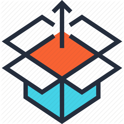 Arrow, Box, Container, Content, Package, Product, Release Icon