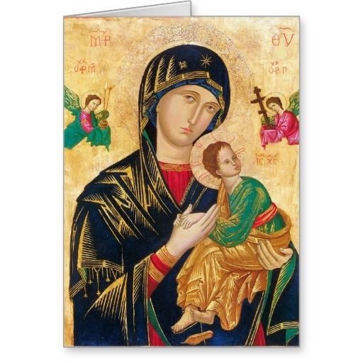 Our Mother Of Perpetual Help Greeting Card Drawings