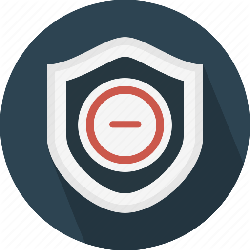 Blocked, Disable, No Protection, Remove, Risk, Security, Shield Icon