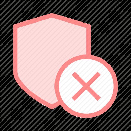 Delete, Protection, Remove, Security, Shield Icon