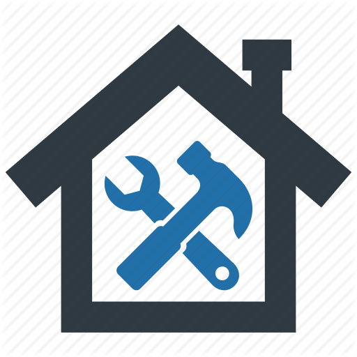 Building, Construct, Fix, Hammer, Home, Repair, Wrench Icon