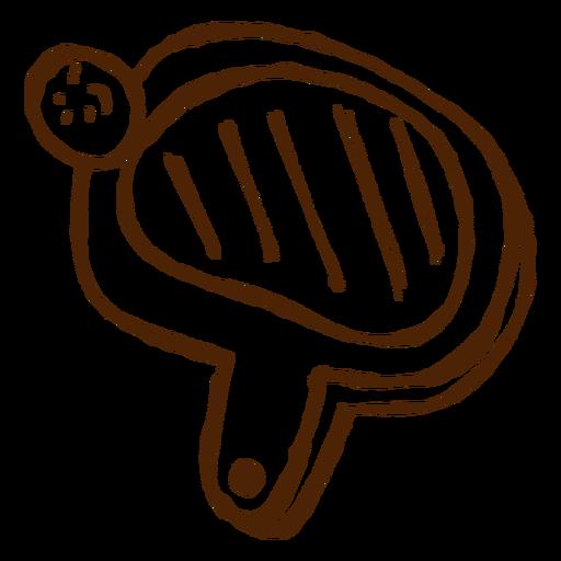 Hand Drawn Pingpong Racket Icon