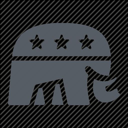 Election, Elephant, Party, Politics, Republican, Usa Icon