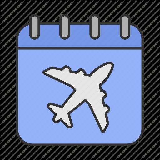 Airplane, Calendar, Date, Departure, Flight, Plane, Schedule Icon