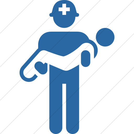 Simple Blue Iconathon Search And Rescue Team Icon