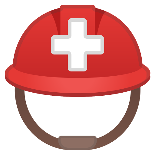 Rescue Workers Helmet Icon Noto Emoji Clothing Objects Iconset