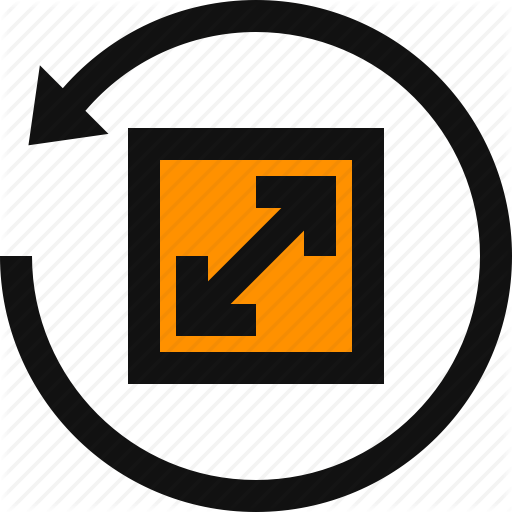 Reset, Reset Zoom, Resize, Resize Arrows, Scale Icon