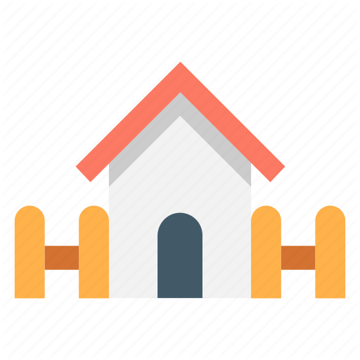 Architecture, Building, Fence, Home, House, Residential Icon
