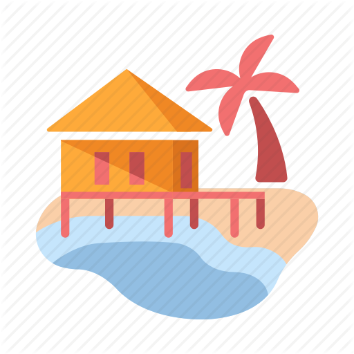 Beach Resort, Hotel, Sea, Summer, Travel, Tropical, Vacation Icon