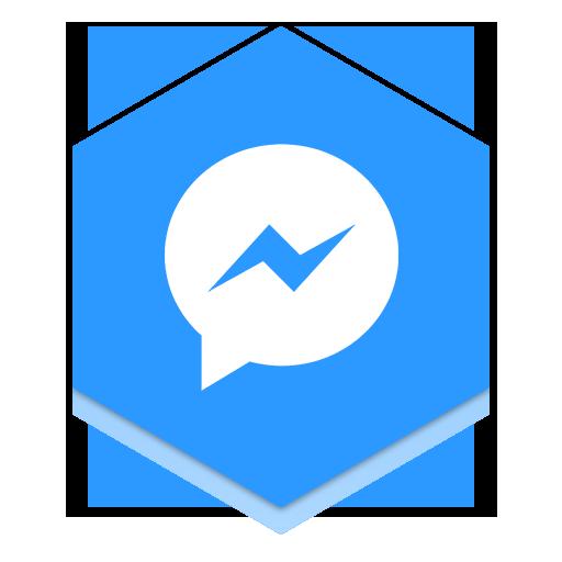 Messenger Honeycomb Icon