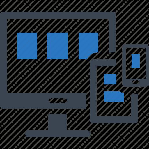Computer, Connection, Responsive, Web Design Icon