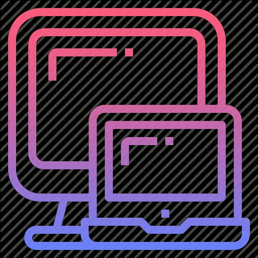 Computer, Device, Mobile, Responsive Icon