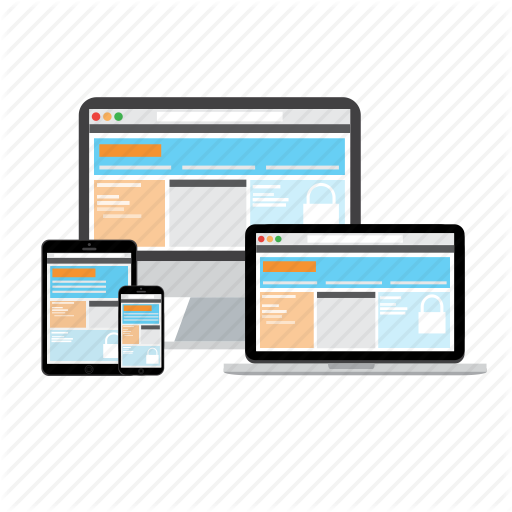 Adaptive, Design, Devices, Format, Responsive, Website Icon
