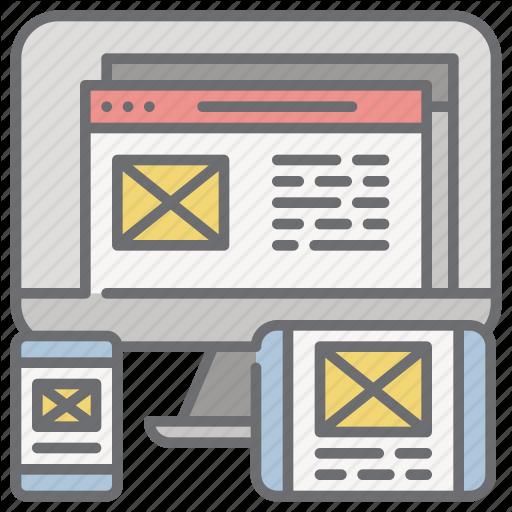 Design, Devices, Responsive, Web, Website Icon