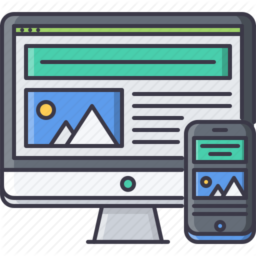 Design, Interface, Monitor, Page, Phone, Responsive, Website Icon