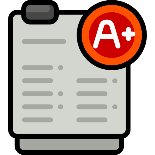 Result, Results, Exam, And Folders, File, Test, Education Icon