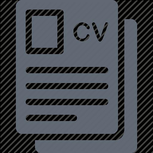 Biodata Cv Job Application Profile Resume Icon