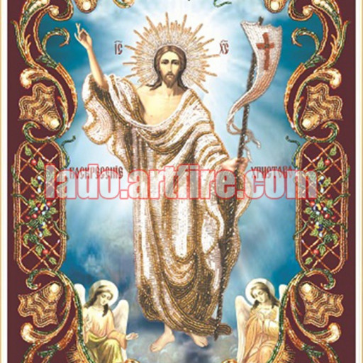 Resurrection Beaded Embroidery Diy Kit Orthodox Icon Lado On Artfire