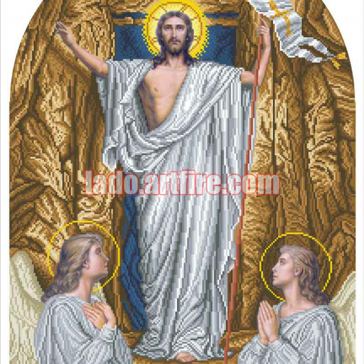 The Resurrection Religious Picture Diy Bead Embroidery Lado