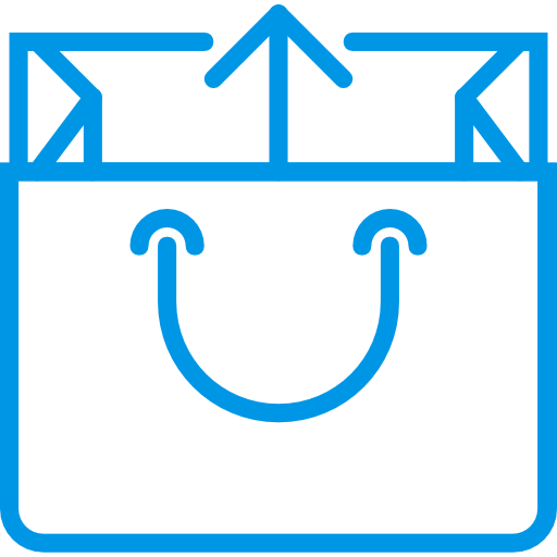 Shopping Flat Dodgerblue Icon