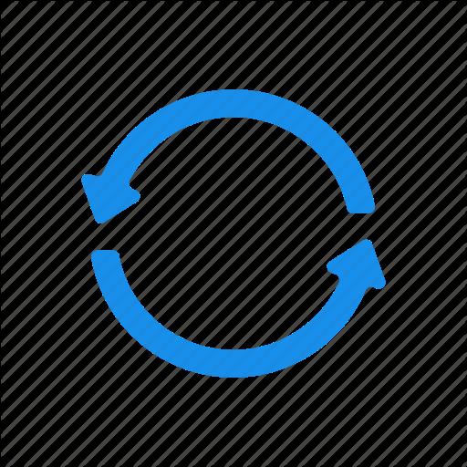 Blue, Refresh, Reload, Renew, Repeat, Retweet Icon