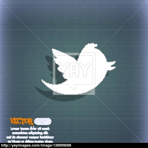 Messages Retweet Icon Symbol On The Blue Green Abstract Background