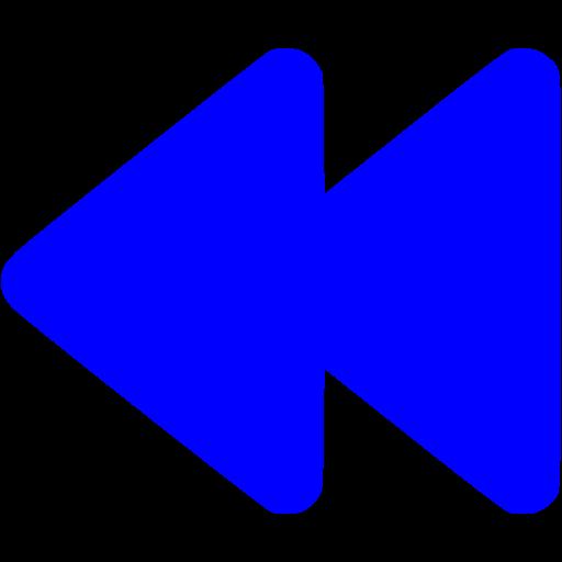 Blue Rewind Icon